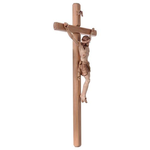Crucifijo bruñido 3 colores Cristo Siena cruz recta 5