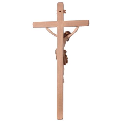 Crucifijo bruñido 3 colores Cristo Siena cruz recta 6