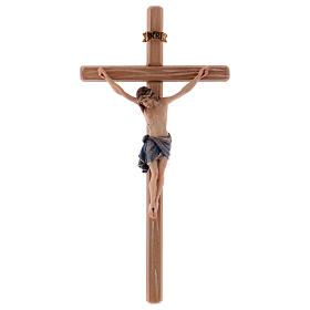 Crucifix with Jesus Christ's body Siena model with coloured straight cross s1