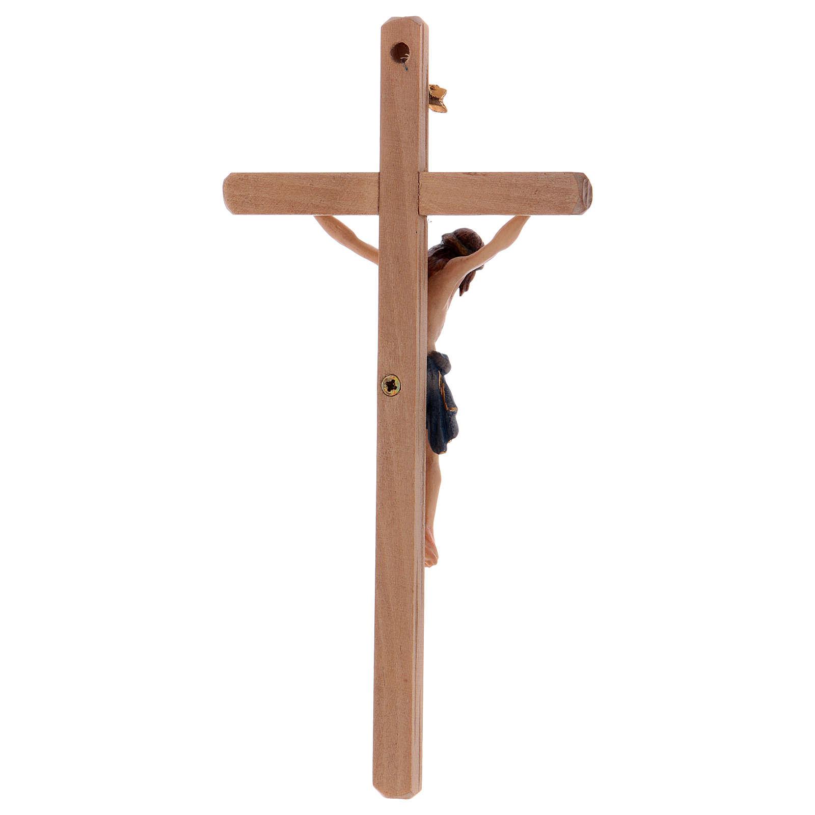 Crucifix Christ Sienne croix droite coloré 4