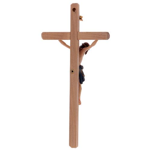 Crucifix Christ Sienne croix droite coloré 5