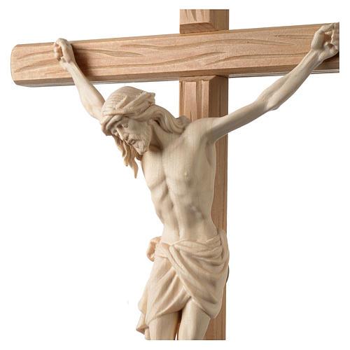Crocefisso Cristo Siena croce diritta colorato 2