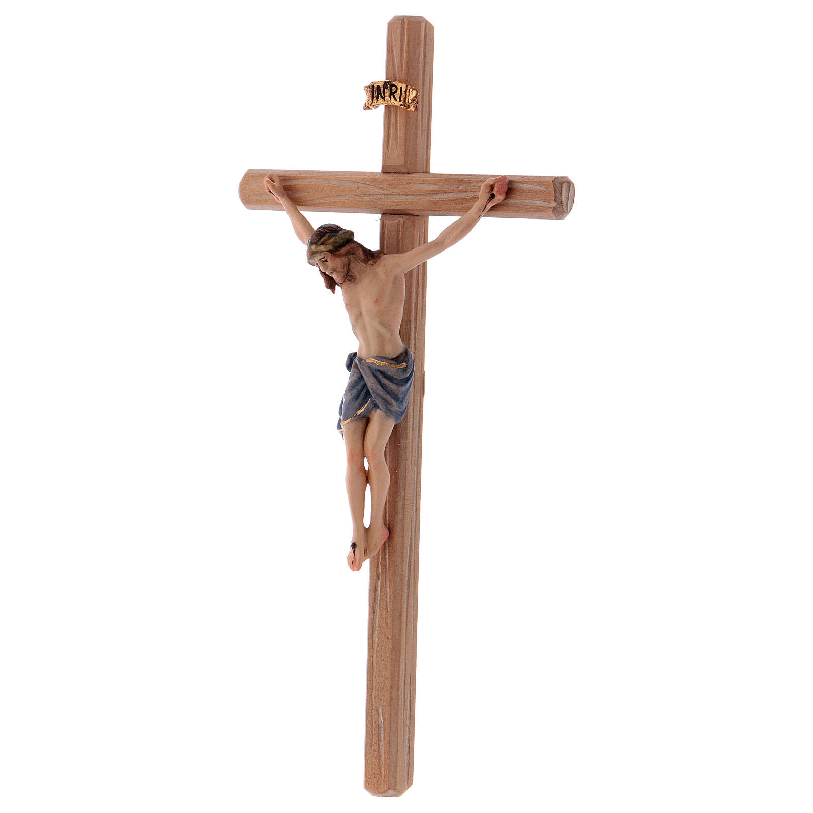 Crucifix with Jesus Christ's body Siena model with coloured straight cross 4
