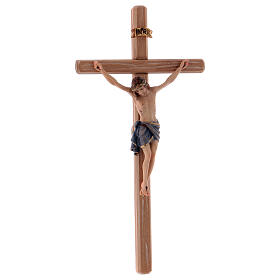 Crucifix with Jesus Christ's body Siena model with coloured straight cross s4