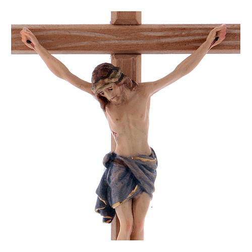 Crucifix with Jesus Christ's body Siena model with coloured straight cross 2