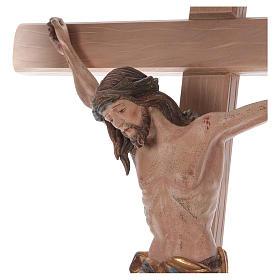 Crocefisso croce diritta Cristo Siena manto oro zecchino antico 124 cm s2