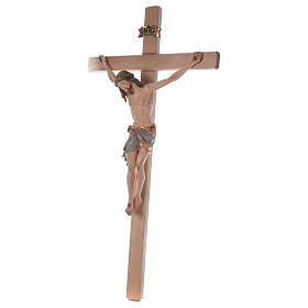Crocefisso croce diritta Cristo Siena manto oro zecchino antico 124 cm s3