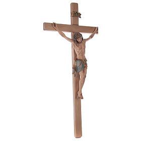 Crocefisso croce diritta Cristo Siena manto oro zecchino antico 124 cm s5