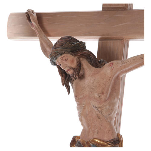Crocefisso croce diritta Cristo Siena manto oro zecchino antico 124 cm 2