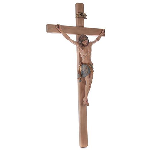 Crocefisso croce diritta Cristo Siena manto oro zecchino antico 124 cm 5