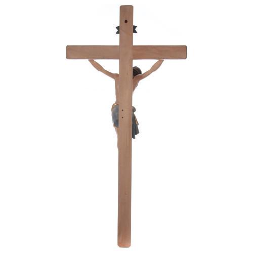 Crocefisso croce diritta Cristo Siena manto oro zecchino antico 124 cm 6