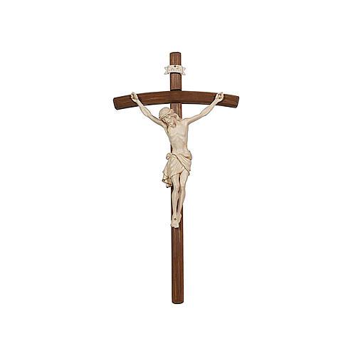 Crocefisso croce curva Cristo Siena cera filo oro 1
