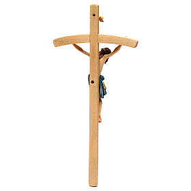 Crucifix with Jesus Christ statue Siena model, coloured curved cross s5