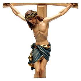Crucifix Christ Sienne croix courbée coloré s2