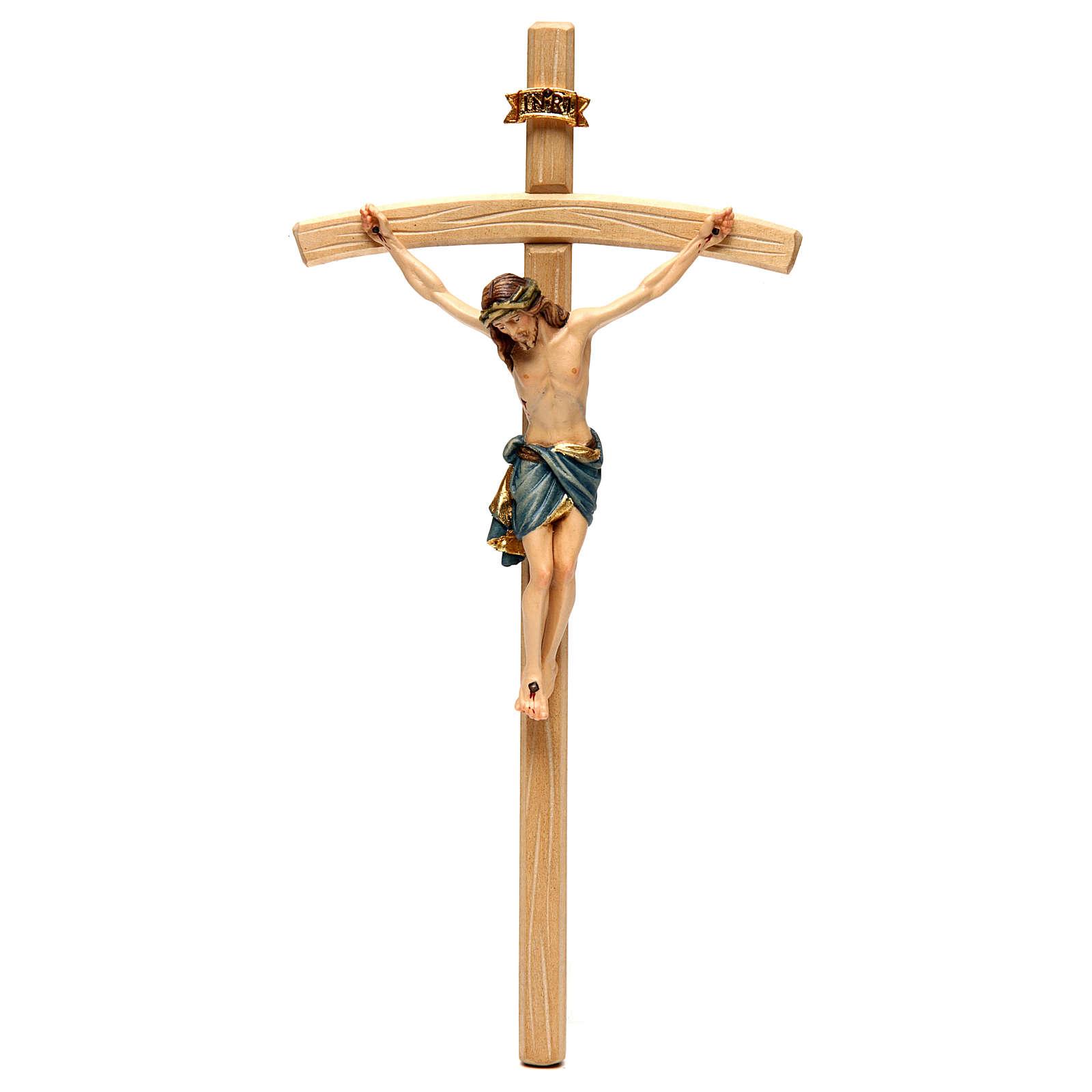 Crucifixo Cristo Siena cruz curva corado 4