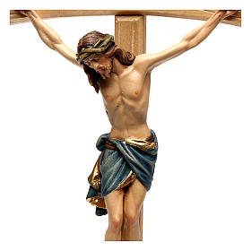 Crucifix with Jesus Christ statue Siena model, coloured curved cross s2