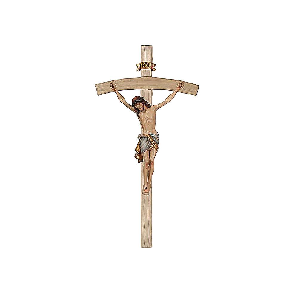 Crocefisso oro zecchino antico Cristo Siena croce curva 4