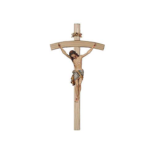 Crocefisso oro zecchino antico Cristo Siena croce curva 1
