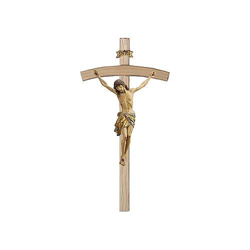 Crocefisso croce curva Cristo Siena manto oro zecchino antico 124 cm 1