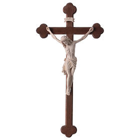 Crucifix with Jesus Christ statue Siena model in burnished natural wood Baroque style s1