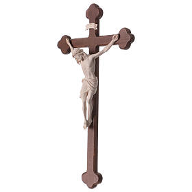 Crucifix with Jesus Christ statue Siena model in burnished natural wood Baroque style s3