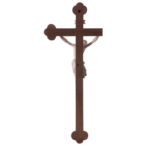 Crucifix with Jesus Christ statue Siena model in burnished natural wood Baroque style 5