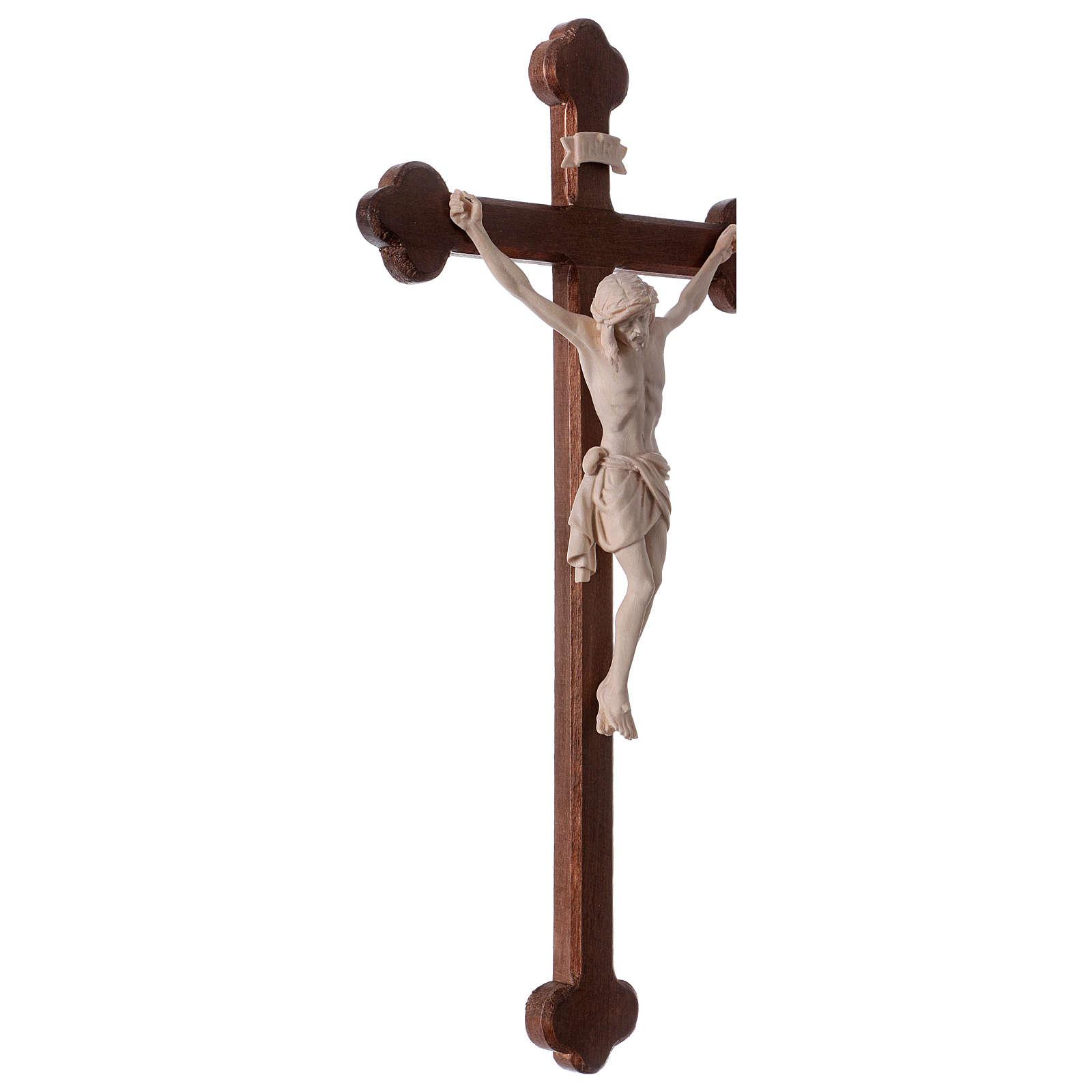 Crucifijo Cristo Siena cruz barroca bruñida natural 4