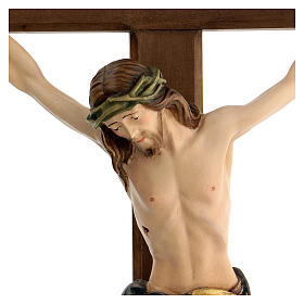 Crucifix with Jesus Christ statue Siena model finished in burnish in Baroque style s6