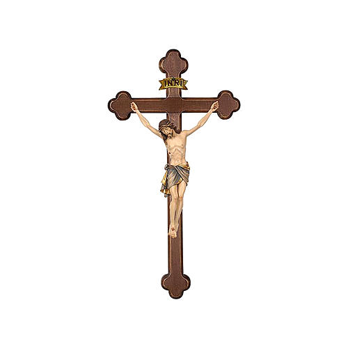 Crucifix with Jesus Christ statue Siena model finished in burnish in Baroque style 1
