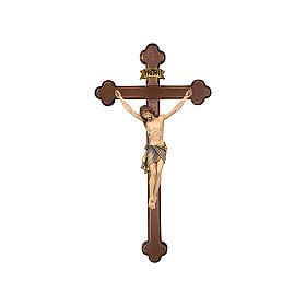 Crocefisso colorato Cristo Siena croce barocca brunita s1
