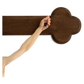 Crocefisso colorato Cristo Siena croce barocca brunita s4