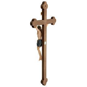 Crocefisso colorato Cristo Siena croce barocca brunita s8
