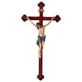 Crucifijo coloreado Cristo Siena cruz oro barroca s1