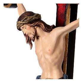Crucifijo coloreado Cristo Siena cruz oro barroca s2