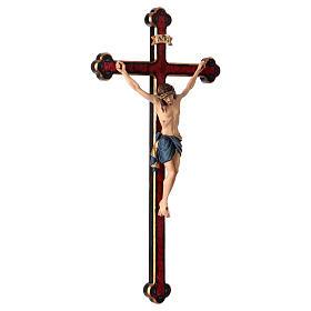 Crucifijo coloreado Cristo Siena cruz oro barroca s4