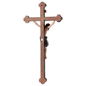 Crucifijo coloreado Cristo Siena cruz oro barroca s5