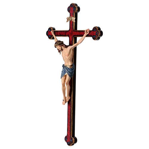 Crucifijo coloreado Cristo Siena cruz oro barroca 3