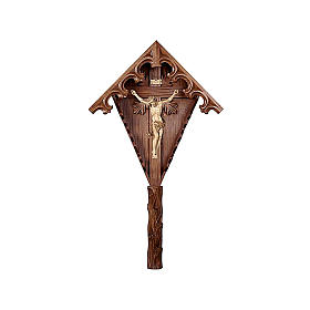 Croce brunita 3 colori campagna abete brunita con Corpo Cristo s1