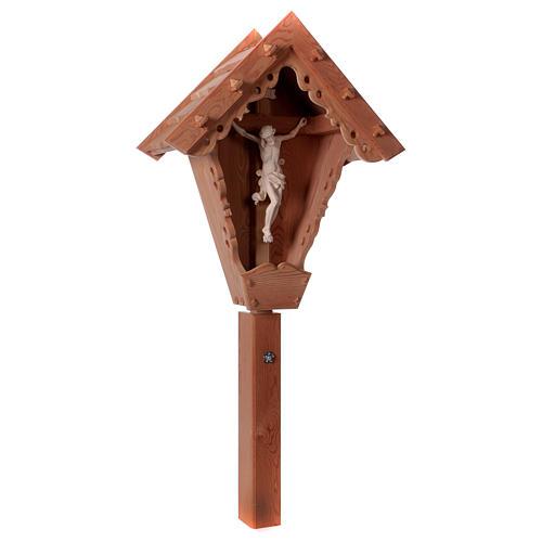 Cristo su Croce di Campagna larice Valgardena naturale 4