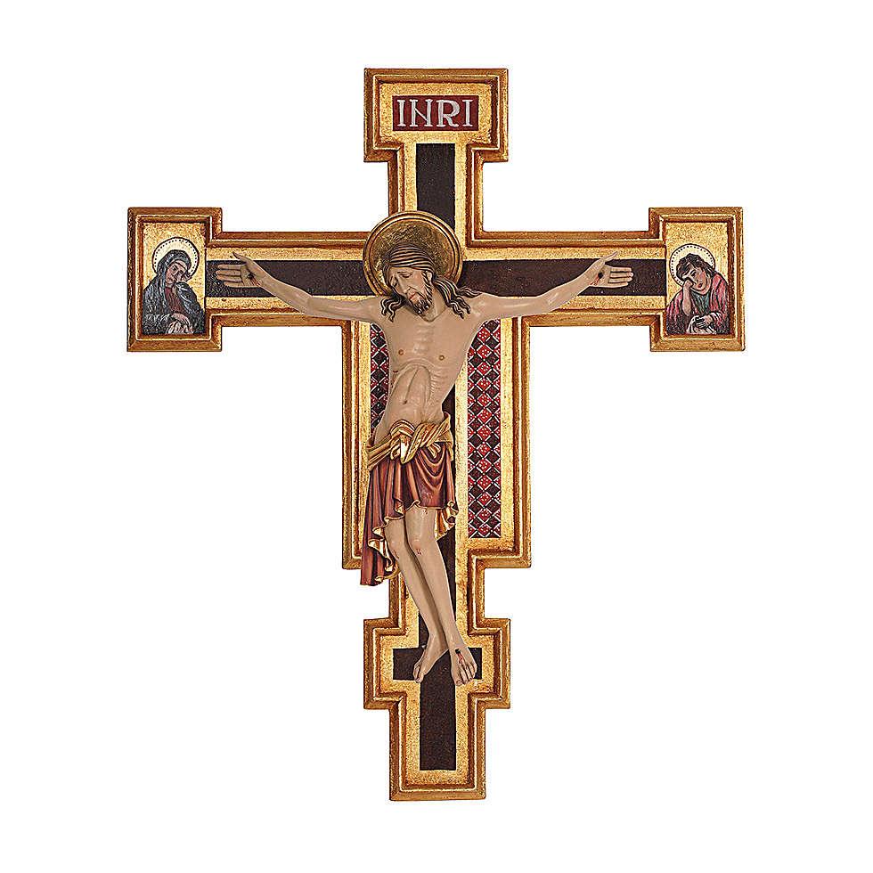 Crocifisso Cimabue legno Valgardena dipinto 4