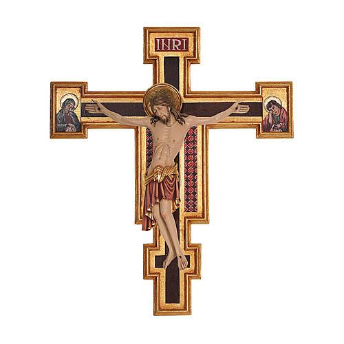 Crocifisso Cimabue legno Valgardena dipinto 1