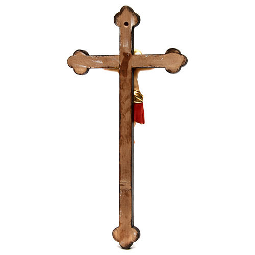 Crucifijo Cimabue cruz oro barroca madera Val Gardena pintada 5