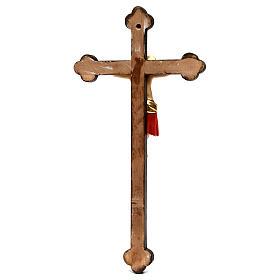 Crucifix Cimabue croix or baroque bois Val Gardena peint s5