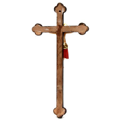 Crucifix Cimabue croix or baroque bois Val Gardena peint 5