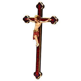 Crocifisso Cimabue croce oro barocca legno Valgardena dipinta s3