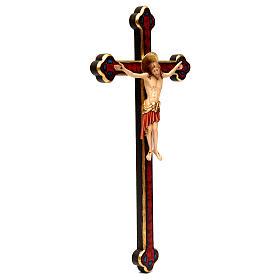 Crocifisso Cimabue croce oro barocca legno Valgardena dipinta s4