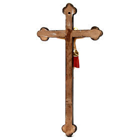 Crocifisso Cimabue croce oro barocca legno Valgardena dipinta s5