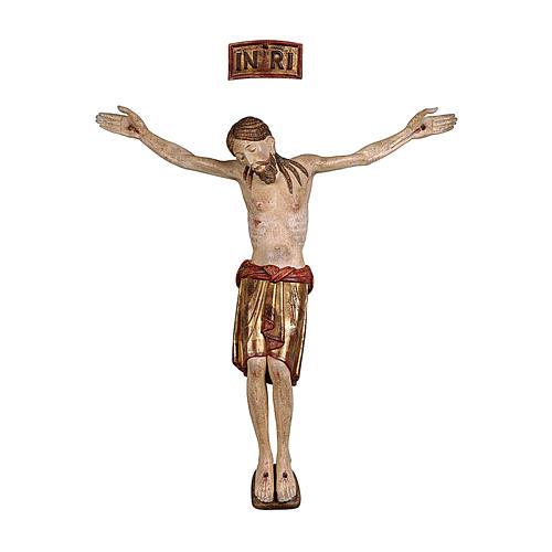 Corpo de Cristo São Damião madeira Val Gardena capa ouro maciço 1