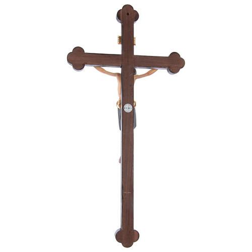 Crocifisso San Damiano croce oro zecchino barocca legno Valgardena dipinto 5