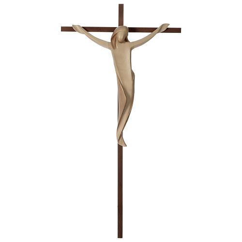 Crocifisso Ambiente croce dritta liscia legno Valgardena brunito 3 colori 1